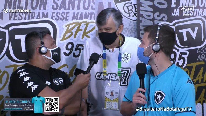 Presidente Durcesio Mello fala à Botafogo TV antes de Botafogo x Sampaio Corrêa
