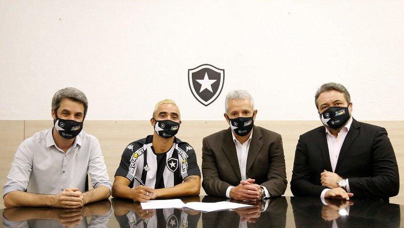 Eduardo Freeland, Rafael, Vinicius Assumpção e Jorge Braga no Botafogo