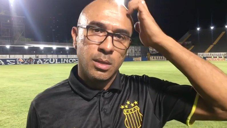 Felipe Surian após Remo 0 x 2 Sampaio Corrêa | Série B do Campeonato Brasileiro 2021