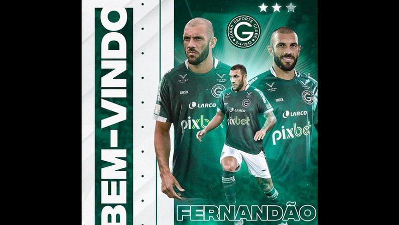 Goiás anuncia retorno do atacante Fernandão, quase contratado pelo Botafogo