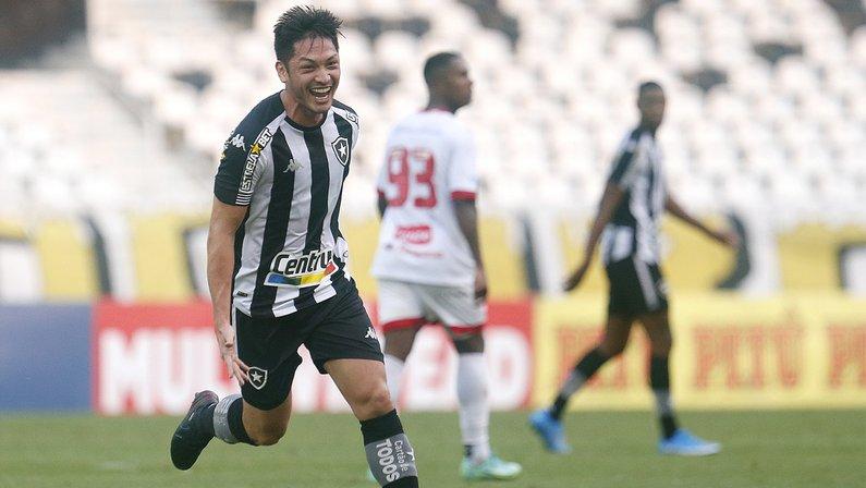 Gol de Luís Oyama em Botafogo x Náutico   Série B do Campeonato Brasileiro 2021