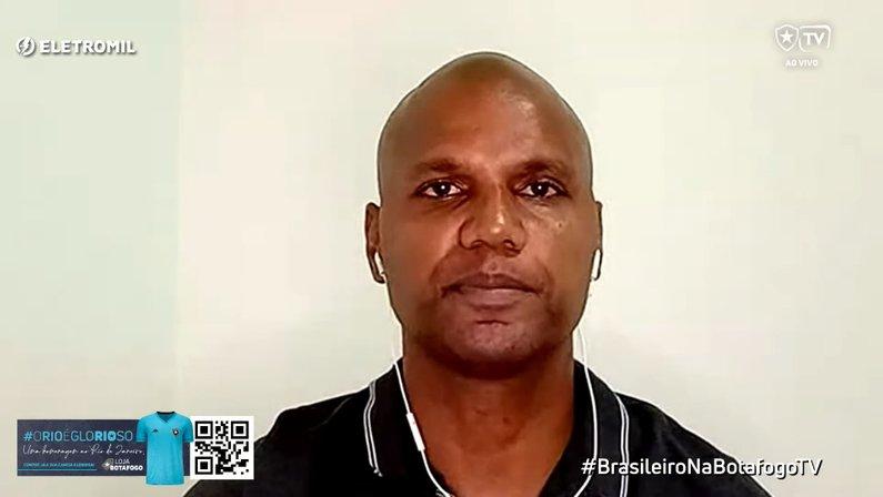 Jefferson fala com a Botafogo TV antes de jogo contra o Sampaio Corrêa