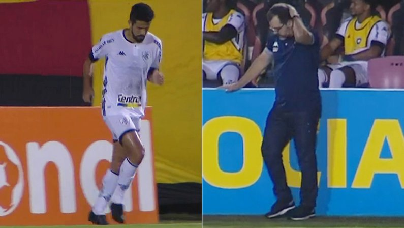 Jonathan Lemos e Enderson Moreira em Vitória x Botafogo | Série B do Campeonato Brasileiro 2021