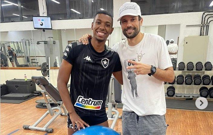 Kanu e Diego Cavalieri no Botafogo