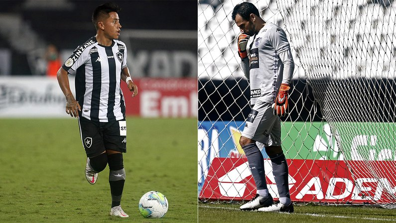 Lecaros e Diego Cavalieri estão de saída do Botafogo