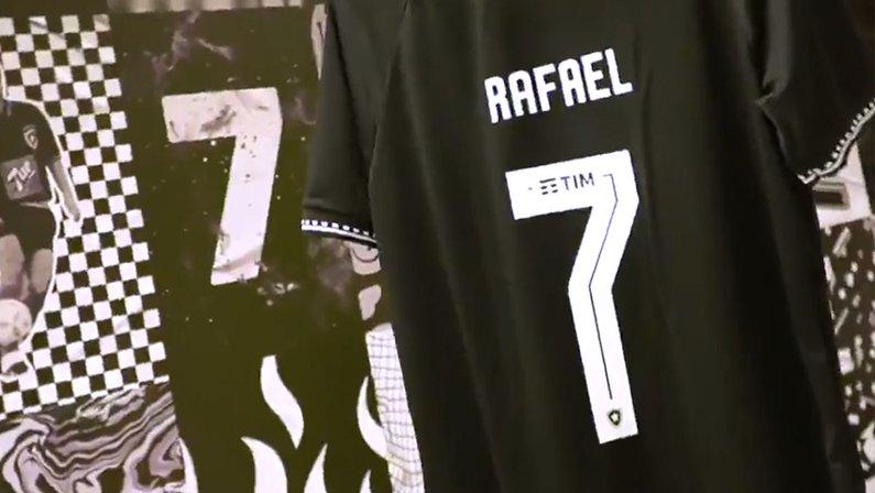 Camisa 7 do Botafogo personalizada com nome de Rafael
