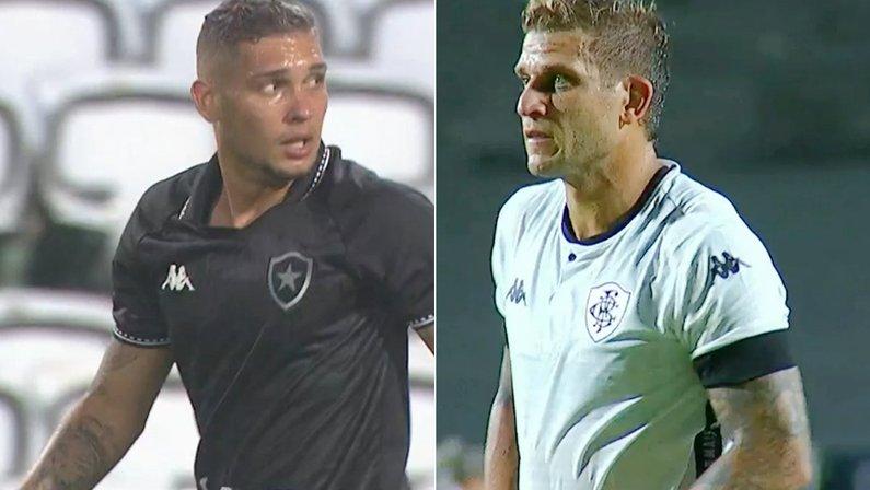 Rafael Navarro e Rafael Moura, atacante do Botafogo   Série B do Campeonato Brasileiro 2021