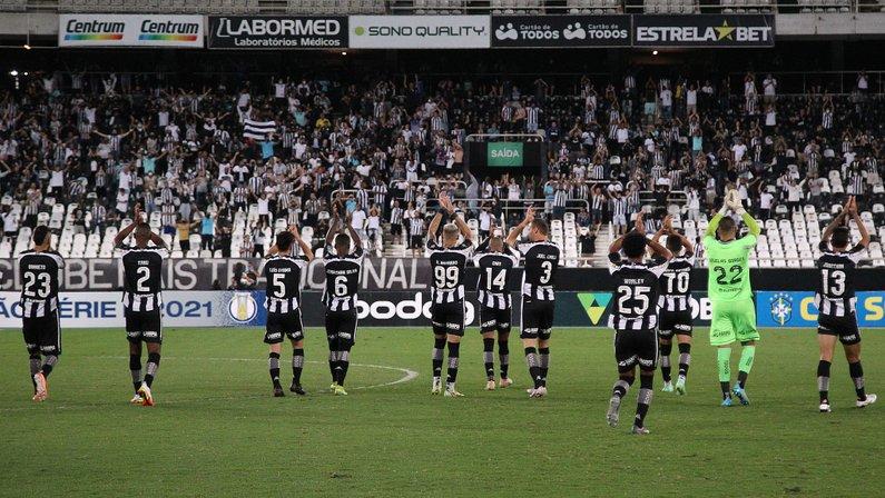 Elenco com a torcida - Botafogo x CRB