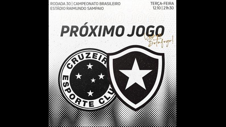 Escudo do Cruzeiro em arte do Botafogo gera polêmica