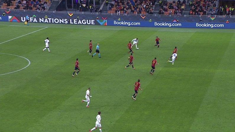 Gol de Mbappé em França 2 x 1 Espanha