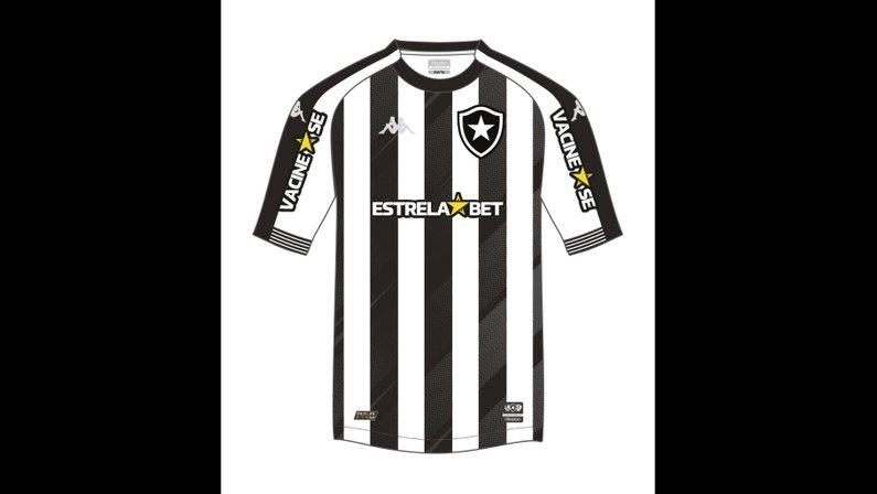 Em campanha para incentivar vacinação, Botafogo terá Estrela Bet no espaço master da camisa contra o Cruzeiro