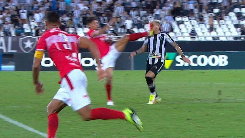 Rafael Navarro em Botafogo x CRB | Série B do Campeonato Brasileiro 2021