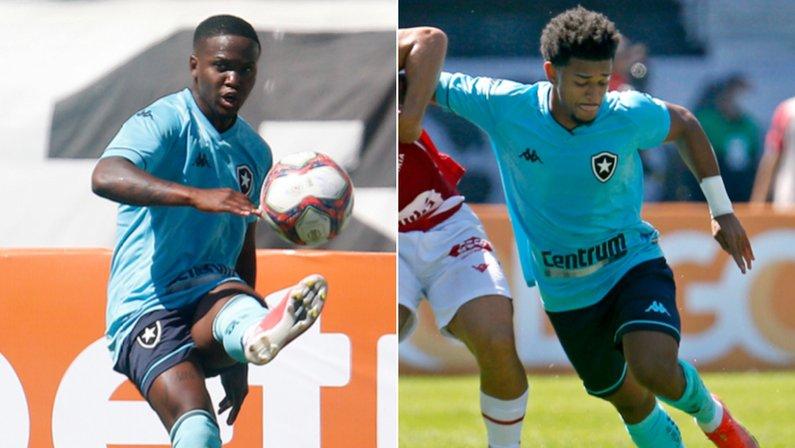 Jonathan Silva e Warley em Botafogo x Vila Nova | Série B do Campeonato Brasileiro 2021