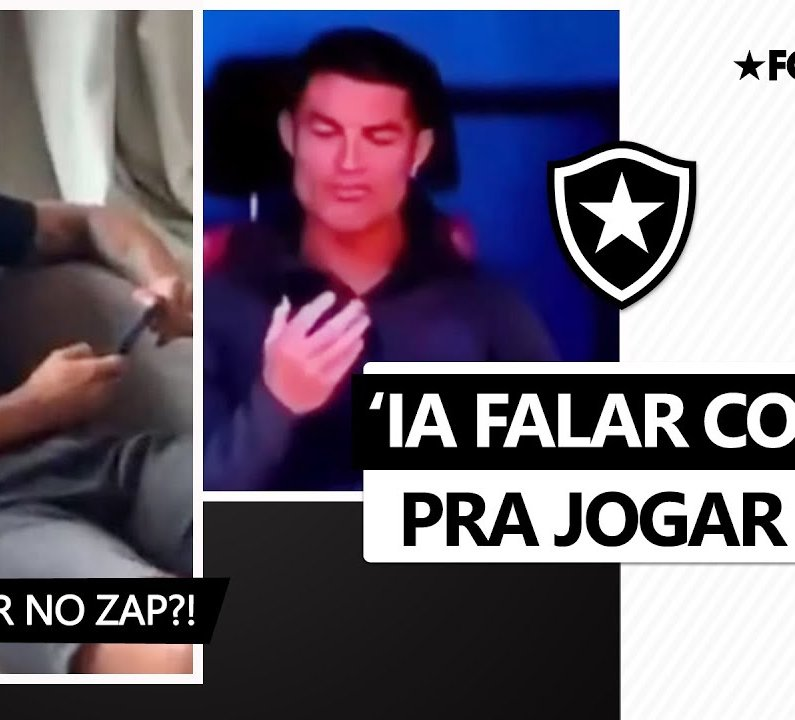 Rafael brinca de 'virar empresário' e convidar Cristiano Ronaldo para o Botafogo e atualiza previsão de estreia com a camisa 7 ✉️👀
